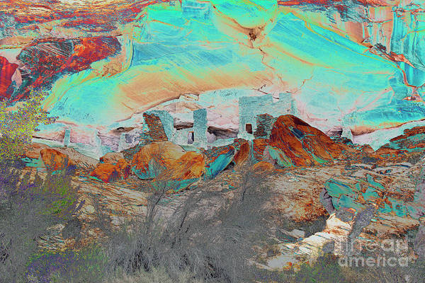 Wall Art - Photograph - American Indian Home In Abstract by Mae Wertz