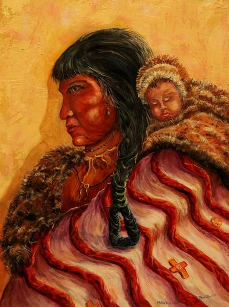 Painting - Native American Indian Mother And Child by Philip Bracco