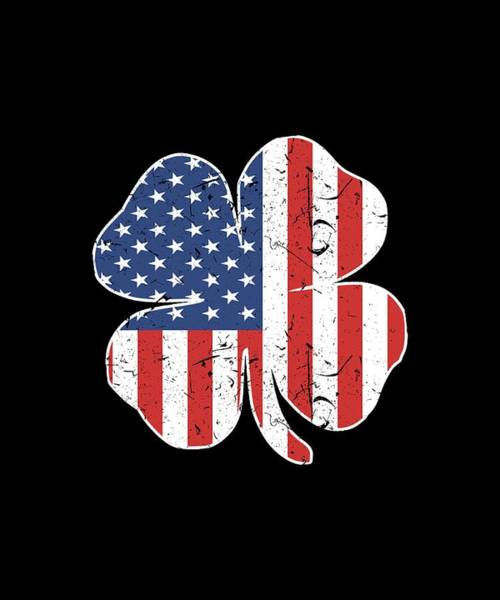 War Bonds Digital Art - American Irish Grunt Style Usa Men_s Patriotic St Patrick_s Day Clover Patriotic by Ben Bevington