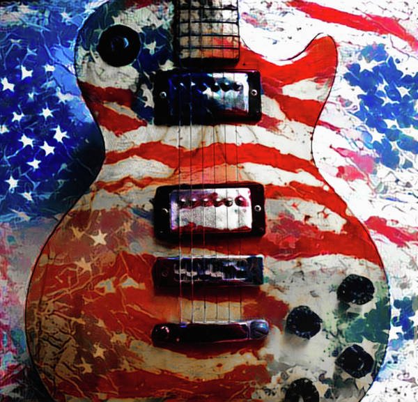 Photograph - American Pie - Gibson Les Paul by Bill Cannon