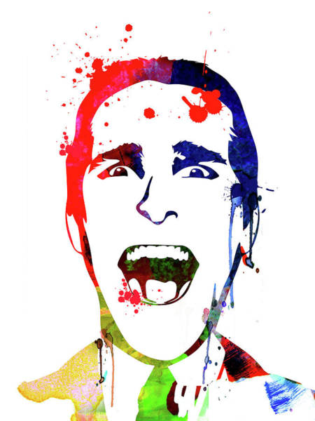 Wall Art - Mixed Media - American Psycho Watercolor by Naxart Studio