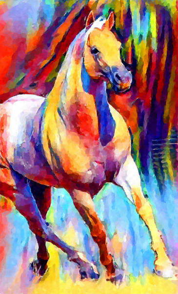 Wall Art - Painting - American Quarter Horse by Chris Butler