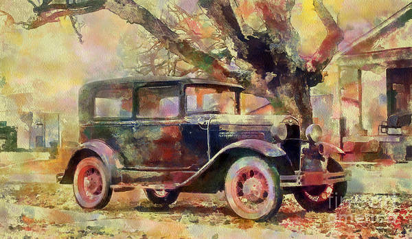 Wall Art - Painting - American Retro Car Collection - 2 by Sergey Lukashin