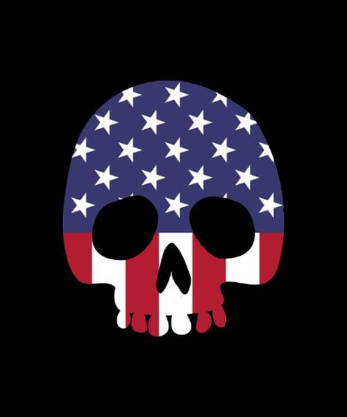 War Bonds Digital Art - American Skull Skeleton Human Talent Confident Patriotic by Ashton Kellett