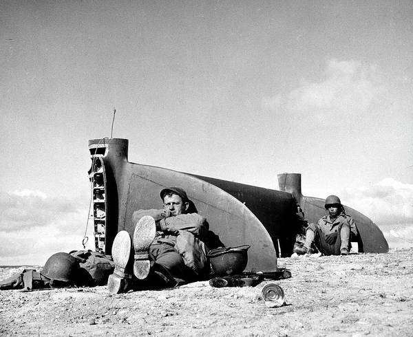 Tunisia Photograph - American Soldiers In Tunisia Wwii by Margaret Bourke-white