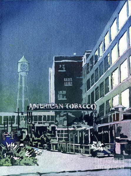 Wall Art - Painting - American Tobacco Campus- Durham by Ryan Fox