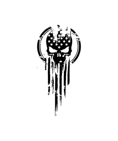 War Bonds Digital Art - American Warrior Flag Skull Military Army Veteran by Edward Hyett