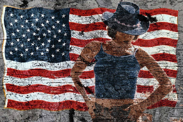 Photograph - American Woman Composite by John Rodrigues