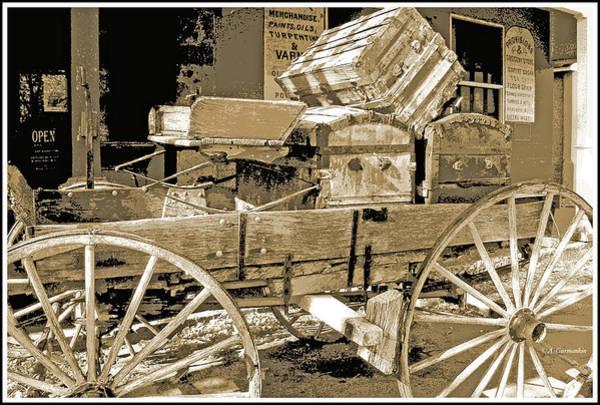 Photograph - America's Old West, Buckboard, Genoa, Nevada by A Gurmankin