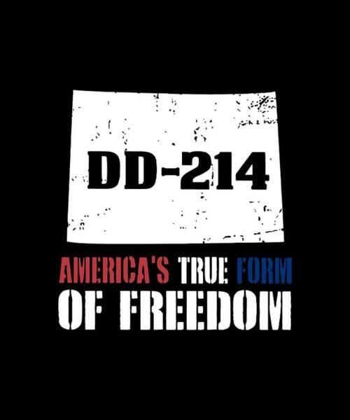 War Bonds Digital Art - America_s True Form Of Freedome Dd 214 Veteran by Aaron Gilfillan