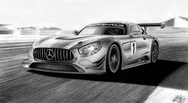 Wall Art - Drawing - Amg Gt3 by Lyle Brown
