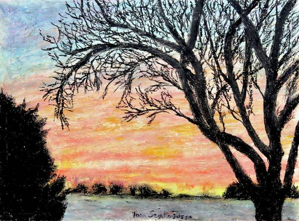 Wall Art - Drawing - Amish Country Dawn by Thomas Santosusso