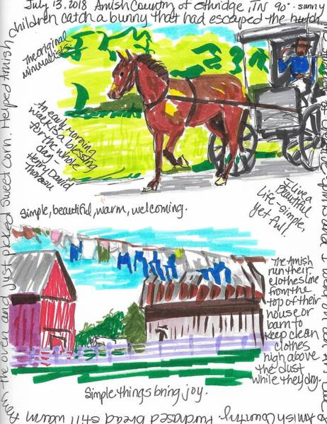 Wall Art - Painting - Amish Country Tennessee by Susan Elizabeth Jones