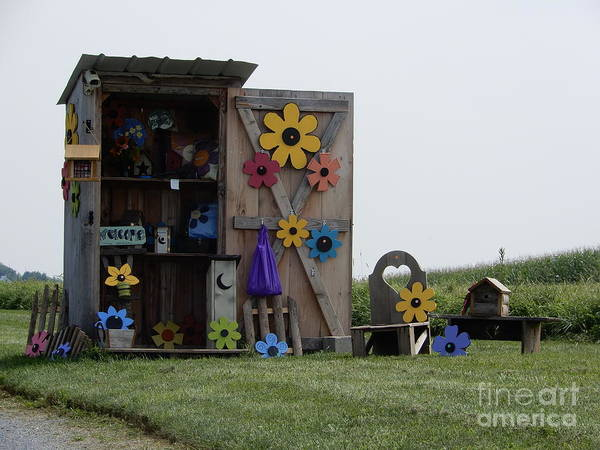 Photograph - Amish Craft Stand by Christine Clark