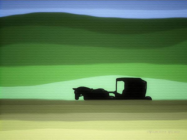 Amish Country Digital Art - Amish Daze by Brenda Wilcox aka Wildeyed n Wicked