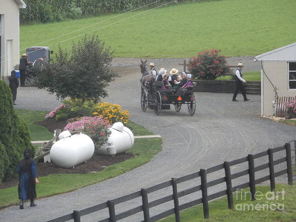 Photograph - Amish Families Gather by Christine Clark