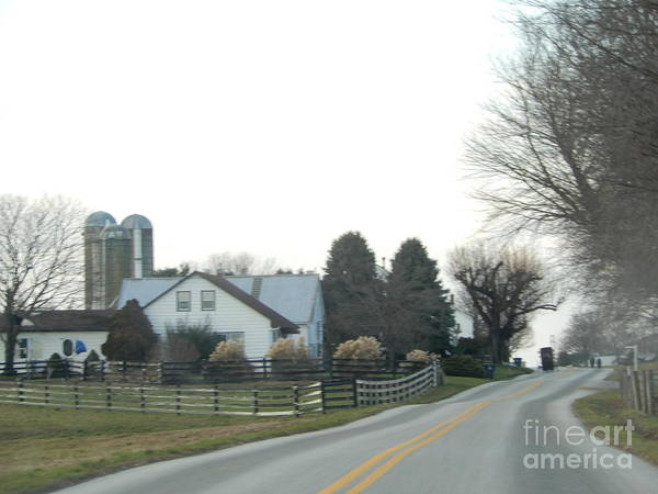 Photograph - Amish Farm And Buggy by Christine Clark