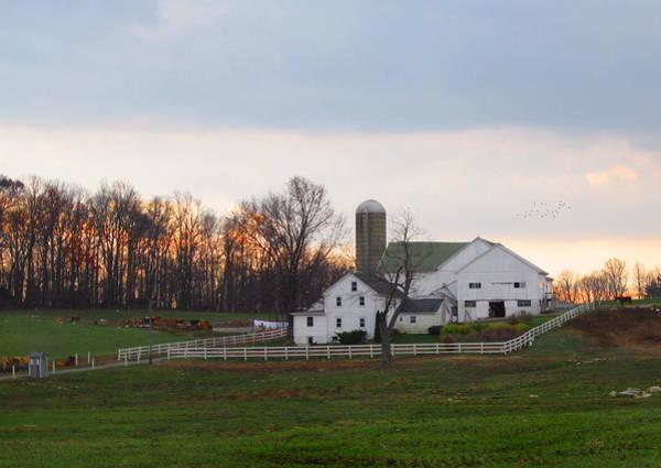 Amish Country Photograph - Amish Farm At Dusk  by Gordon Beck