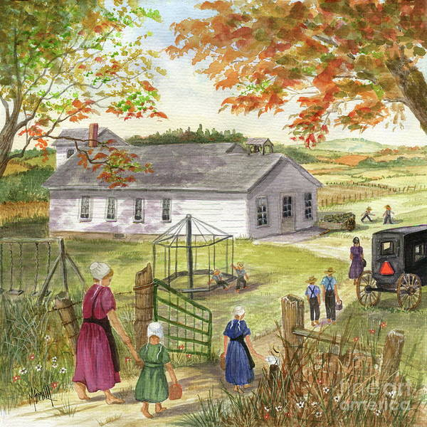 Painting - Amish School Days by Marilyn Smith