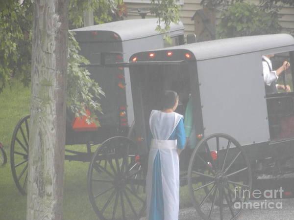 Photograph - Amish Sunday Church Preparations  by Christine Clark