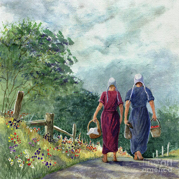 Painting - Amish Way Of Life - Bearing Gifts by Marilyn Smith