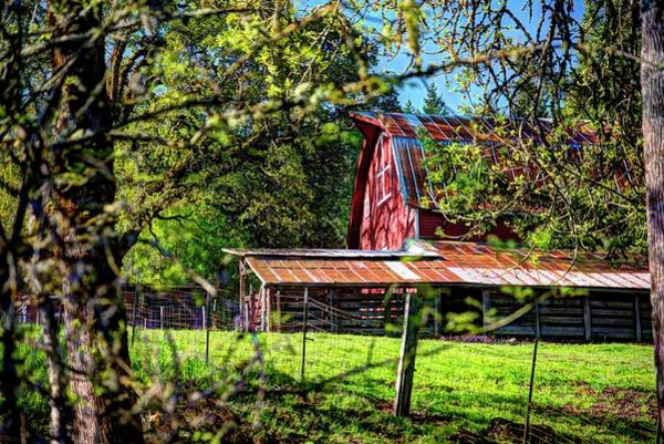 Photograph - Amity Road Barn 1 by Jerry Sodorff
