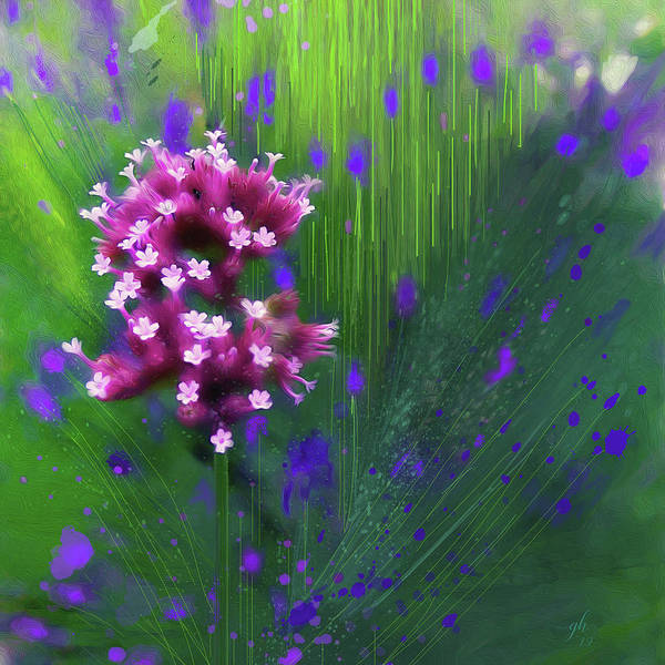 Digital Art - Among The Lavender by Gina Harrison