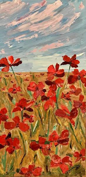 Painting - Among The Poppies.   2 Of 2 by Ovidiu Ervin Gruia