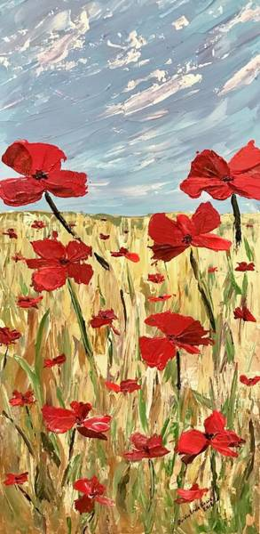 Painting - Among The Poppies     1 Of 2 by Ovidiu Ervin Gruia