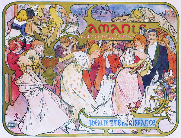 Wall Art - Painting - Amore - Digital Remastered Edition by Alfons Maria Mucha