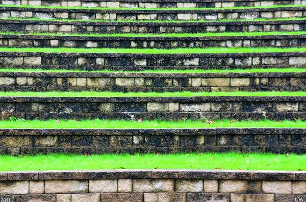 Photograph - Amphitheater Steps Abstract by Lisa Wooten