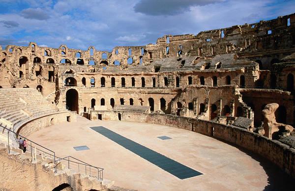 Tunisia Wall Art - Photograph - Amphitheatre At Colosseum Of El-jem by Ariadne Van Zandbergen