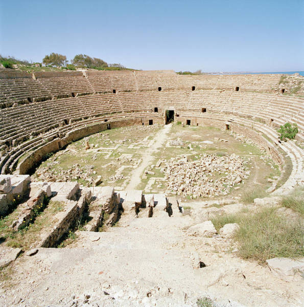 Ancient Photograph - Amphitheatre At The Ruined Roman City by Cultura Exclusive/philip Lee Harvey