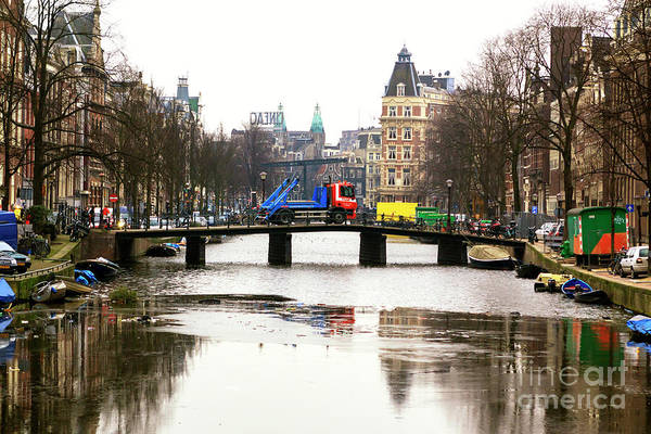 Photograph - Amsterdam Canal 2009 by John Rizzuto