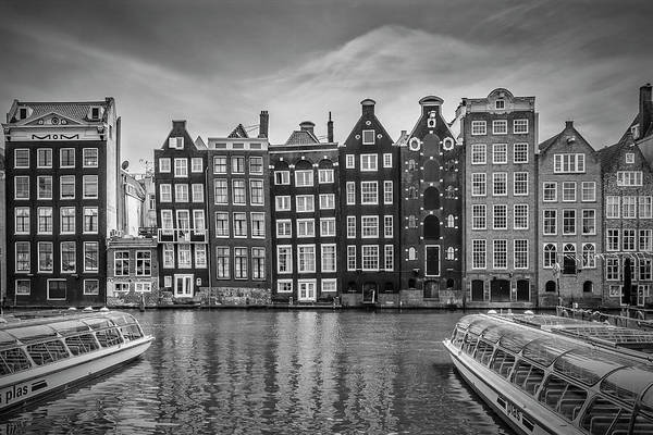 Wall Art - Photograph - Amsterdam Damrak And Dancing Houses by Melanie Viola