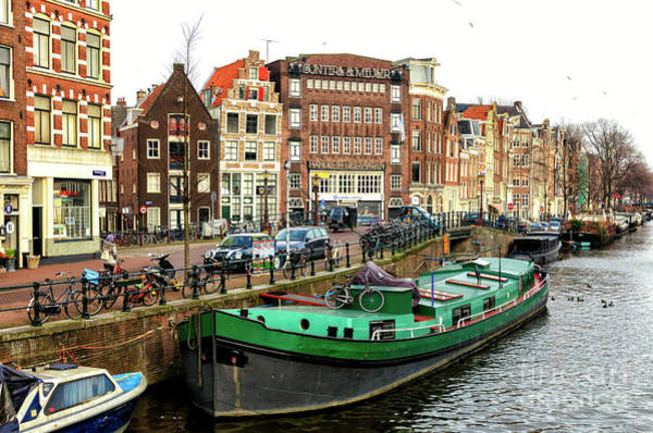 Photograph - Amsterdam Day Along The Canal by John Rizzuto