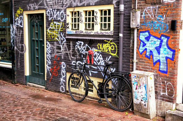 Photograph - Amsterdam Graffiti Wall Colors by John Rizzuto