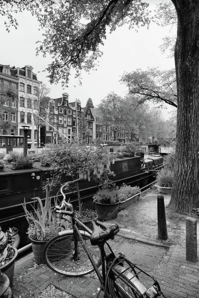 Photograph - Amsterdam House Boat by Georgia Fowler