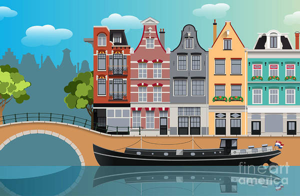 Wall Art - Digital Art - Amsterdam Landscape by Nikola Knezevic