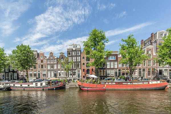 Houseboat Photograph - Amsterdam Prinsengracht Houseboats by Melanie Viola
