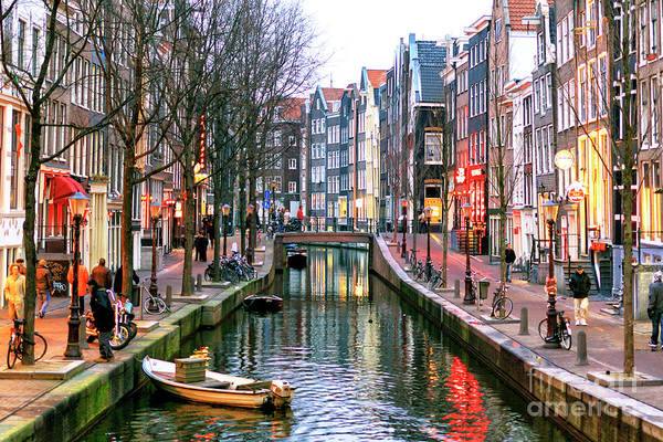 Photograph - Amsterdam Red Light District Days by John Rizzuto