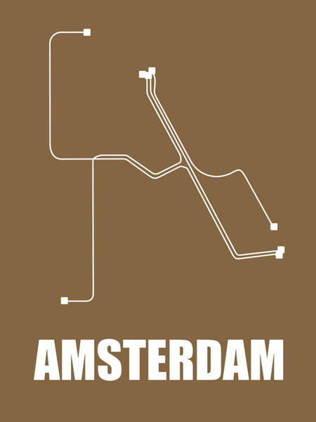 Wall Art - Digital Art - Amsterdam Subway Map 2 by Naxart Studio