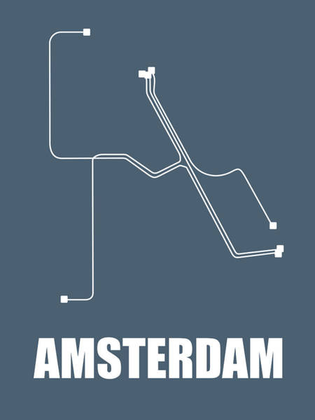 Wall Art - Digital Art - Amsterdam Subway Map by Naxart Studio