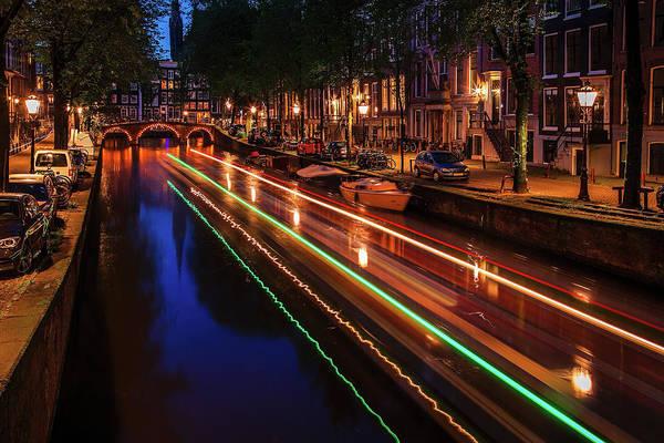 Wall Art - Photograph - Amsterdam Twilight Traffic by Andrew Soundarajan