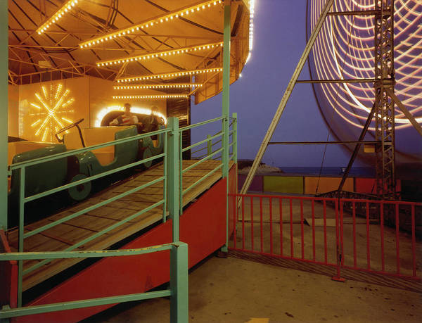 Photograph - Amusement Ride At Night by Silvia Otte