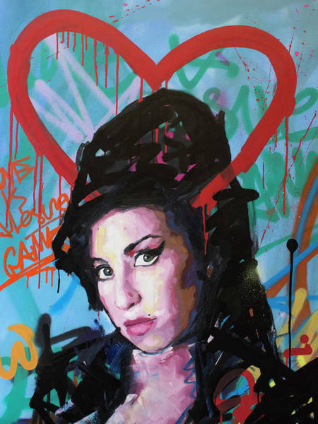 Wall Art - Painting - Amy Winehouse by Richard Day