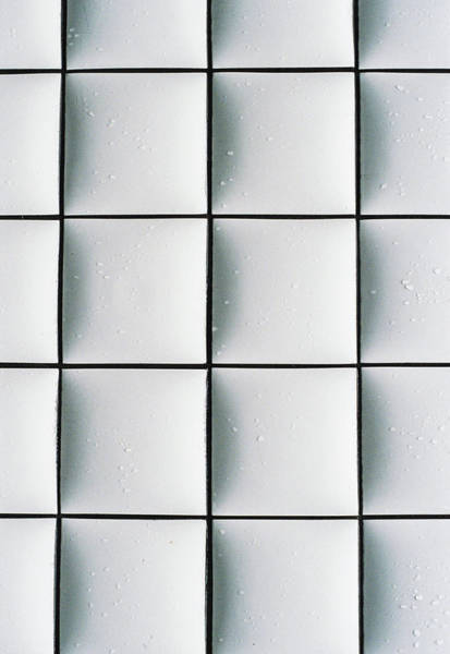 Tile Floor Wall Art - Photograph - An Abstract White Tile by Yuko Sakuma
