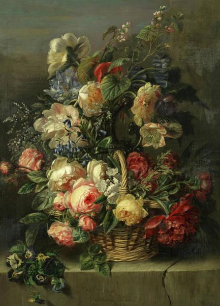Wall Art - Painting - An Abundant Still Life Of Flowers by Adriana Johanna Haanen