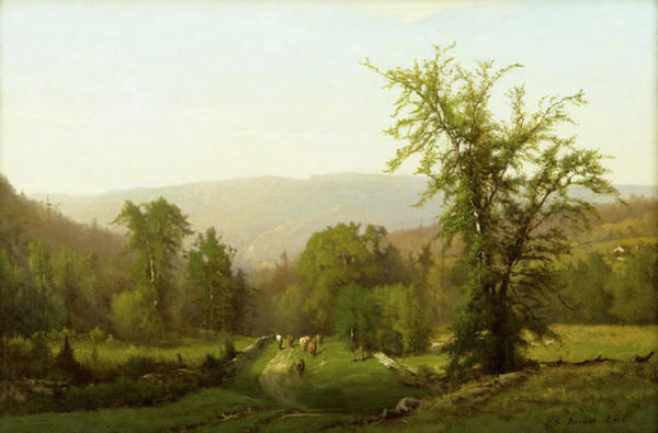 Adirondack Mountains Painting - An Adirondack Pastorale by George Inness