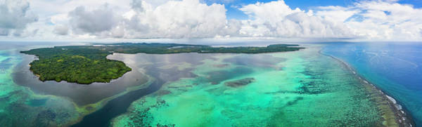Wall Art - Photograph - An Aerial View Above The Outer Reef by Dave Fleetham